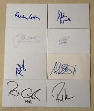 Hand Signed 5x3 cards LAVER COOPER KODES SMITH CASH EDBERG STICH KRAJICEK TENNIS