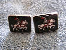 Vintage Cufflinks with Carlisle Horse