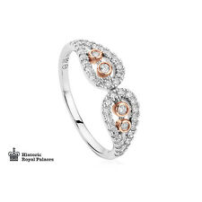 Clogau 18ct White & Rose Gold Royal Crown Diamond Ring 20% OFF RRP £1870 SIZE P