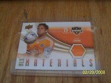 2010 BRIAN CHING UPPER DECK MLS MATERIALS CARD HOUSTON DYNAMO  #M-BC