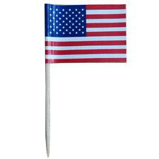 100Pcs Mini American Flag Paper Food Picks Dinner Cake Toothpicks Decoration