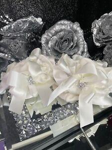 ⭐️⭐️Diamanté Stack Bow cream Socks 🧦 Ruffle tutu 9-12 Jazziejems boutique