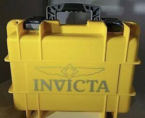 Invicta 8 Slot Impact Resistant Yellow Watch Case