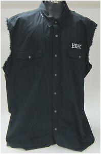 """Harley Davidson Men's 4X-Large Black  """"Vest-Shirt""""   """"Big-Guy"""" 96482-15VM/042L"""