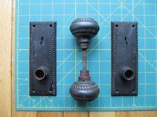 Antique Vintage Y&T  Door Hardware set - attractive, well worn