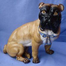 "ANTIQUE 10"" VICTORIAN PUG MASTIFF DOG GERMANY"