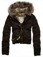 Great! Abercrombie & Fitch AF Women's Brown fur Bomber Jacket Small