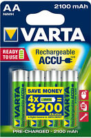 Varta AA Akku Mignon NiMH 2100mAh Ready to use 4er Blister 56706