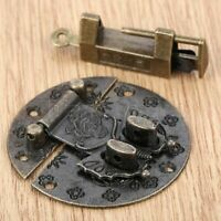1Set Padlock Chinese Jewelry Box Lock Retro Carved Butterfly Suitcase Latch Hasp