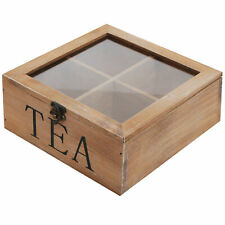 Leeber Wood English Tea Bag Tray Chest Silver Plated