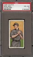 Very Rare 1909-11 T206 Neal Ball Tolstoi Back Cleveland PSA 4 VG - EX