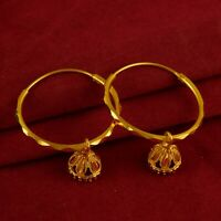 Bollywood Designer Hoop Gold Plated Earring Traditional Indian Fashion Jewellery