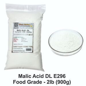 2lb (900g) - Malic Acid DL - Food grade - E296 - C4H6O5 - Wine acid