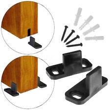 2Pcs Cilps Sliding Barn Door Hardware Wall Bottom Floor Roller Guide + Screws