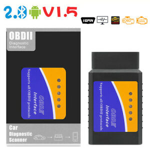 Mini OBD2 Bluetooth Diagnostic Scanner Tool for Multi-brands CAN-BUS Android US