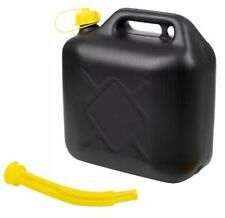 10L BLACK PLASTIC FUEL JERRY CAN PETROL DIESEL WITH SPOUT WATER 10 LITRE