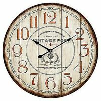 "Extra, Extra Large Retro Shabby Chic Wall Clock. 58cm Diameter (22"" +) 7092"