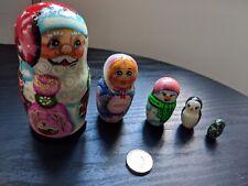 Father Christmas Russian Doll Santa Claus 5Pcs