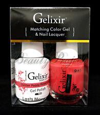 Gelixir Soak Off Gel Polish Glitter Poppy Flower 041 LED/UV 5oz matching gel duo