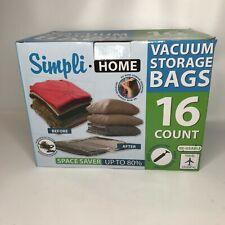 16 pack Vacuum Storage Bags, Assortment Set, with Pump, Space Saver Simpli Home
