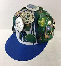 Vintage New Trier High School Crazy Pin Snapback Mesh Hat Winnetka Illinois