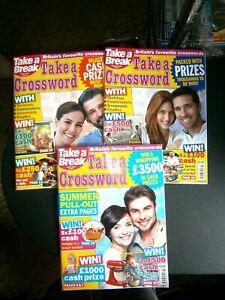 3 Take A Break Take A Crossword Magazines:2021 (new)  August, September, October