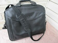 "Laptop Case.Genuine Leather. Expandable.Organizers.16 1/2"" X 13"" X 4""  By Dell"