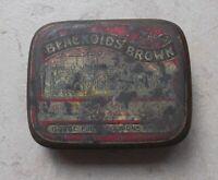 Boite métal ancienne BLACKOIDS BROWN pharmacie collection tin box France