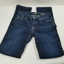 7 For All Mankind Kimmie Straight Leg Jeans Dark Wash Made in USA Women's Sz 25