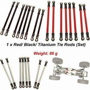 For 1:10 RC Car Axial SCX10 90046 90047 313MM Wheelbase Metal Link Tie Rods Set