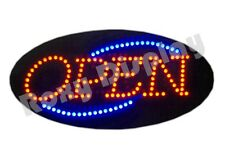 Big Bright Open LED Sign - Red & Blue Flash #OP122-AC