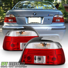 1997 1998 1999 2000 BMW E39 528i 540i M5 Red Clear Tail Lights Lamps Left+Right