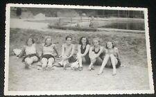 VINTAGE REAL PHOTO POSTCARD TEENAGERS POOL BEACH