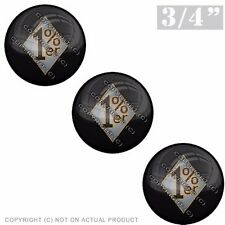 """3 Pack Gel Top Domed Glossy 3/4"""" 3M Premium Decal Stickers 1%ER PERCENTER GREY O"""