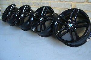 """Genuine BMW 18"""" 461M 1/2 Series Alloy Wheels: Gloss Black F20 F21 F22 F23 F87"""