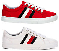 New Tommy Hilfiger Womens Casual Sneaker white red various colors sizes
