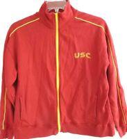 Womens Vintage USC Trojans Jacket, Full Zip Athletic Sweatshirt, Extra Large-XL