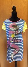 Power Rangers Mighty Morphin Girls Pink  Striped Pajama Pullover XL!! EUC! 💥