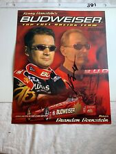 Signed Kenny Bernstein Budweiser Top Fuel Dragster NHRA Photo Card 8 x 10 N 381