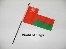 """OMAN SMALL HAND WAVING FLAG 6"""" x 4"""" Omani Crafts Table Desk Display"""