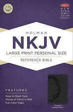 Large Print Personal Size Reference Bible-NKJV by Broadman & Holman Publishers (Leather / fine binding, 2013)