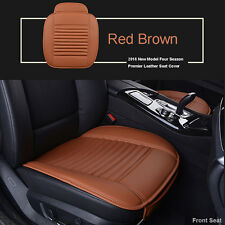 Universal Red Brown Car Seat Cover Leather Protector Car Front Seat Cover Mat