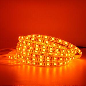 Orange LED Flexible Strip Light 600NM Waterproof 5050 LED tape string lamp DC12V