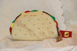 Betsey Johnson Taco Wristlet Purse Pouch Clutch Handbag Rare Hard To Find