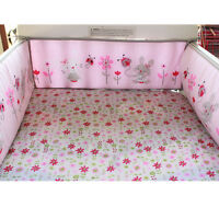 4Pcs Rabbit Baby Infant Cot Crib Bumper Safety Protector Toddler Nursery Set !