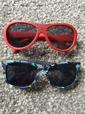 Baby Boy Primark Sunglasses. Spiderman Red. Blue Camouflage