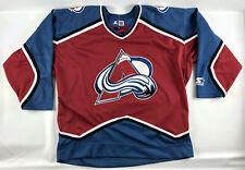 Colorado Avalanche Starter Hockey Jersey Red Blue Blank NNOB Size L