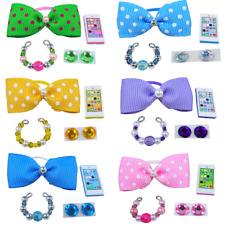 Littlest Pet Shop Lps 4Pc Clothes Accessories Grab Bag Random Custom Lot Bows