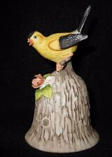 """Towle Fine Bone China Beautiful """"Gold Finch"""" Bell with flowers 4.5 x 3 inches"""