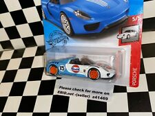"Hot Wheels Porsche 918 Spyder - ""GULF RACING"" REAL RIDERS custom"